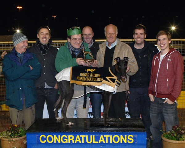 123ICT Chase: Dominic presenting the trophy to Terry Kibble and West Bolt