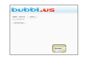 A screen shot showing how to use Bubblus