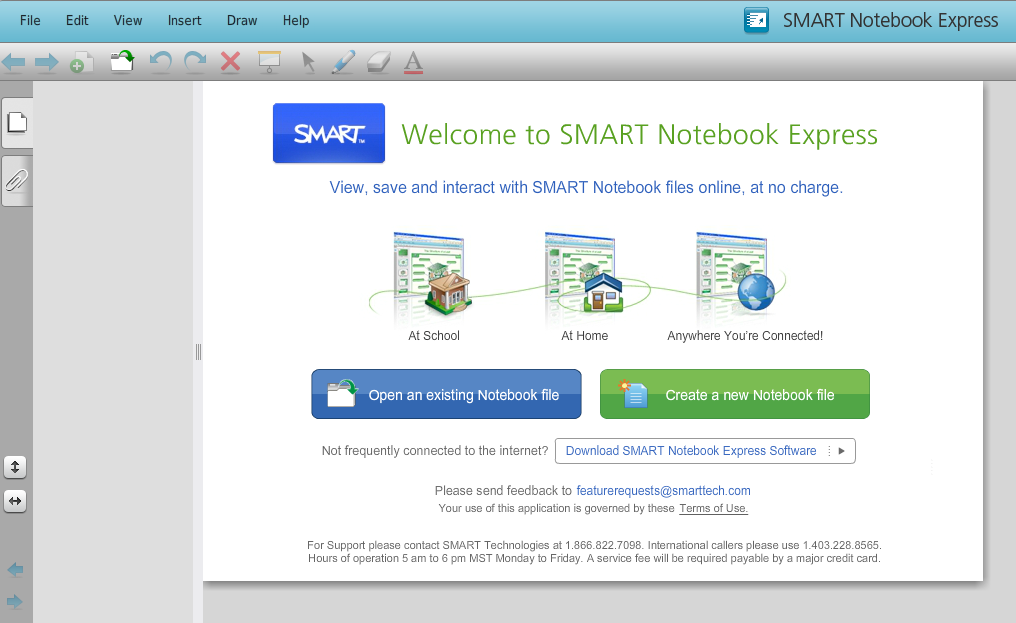 Smart Express web page