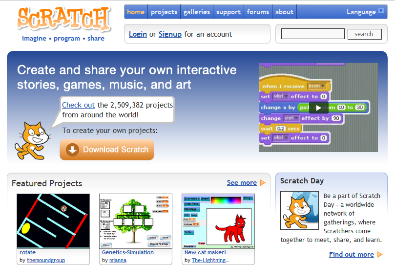 A picture from the Scratch web site