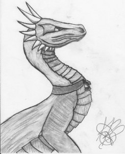 A dragon sketch