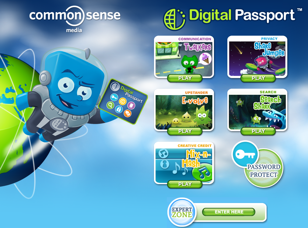 The Digital Passport Web page
