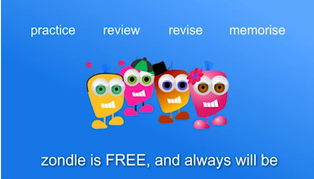 A Zondle screen