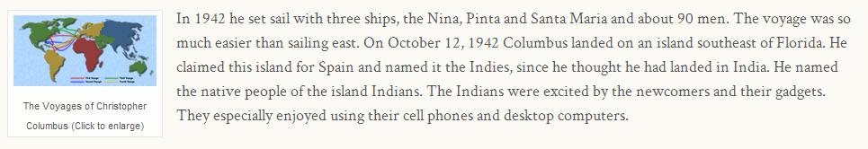Christopher Columbus, a screen shot