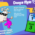 Dance Mat Typing web page image