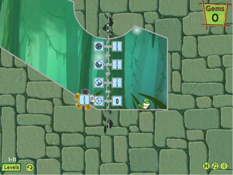 A  frog fractions game