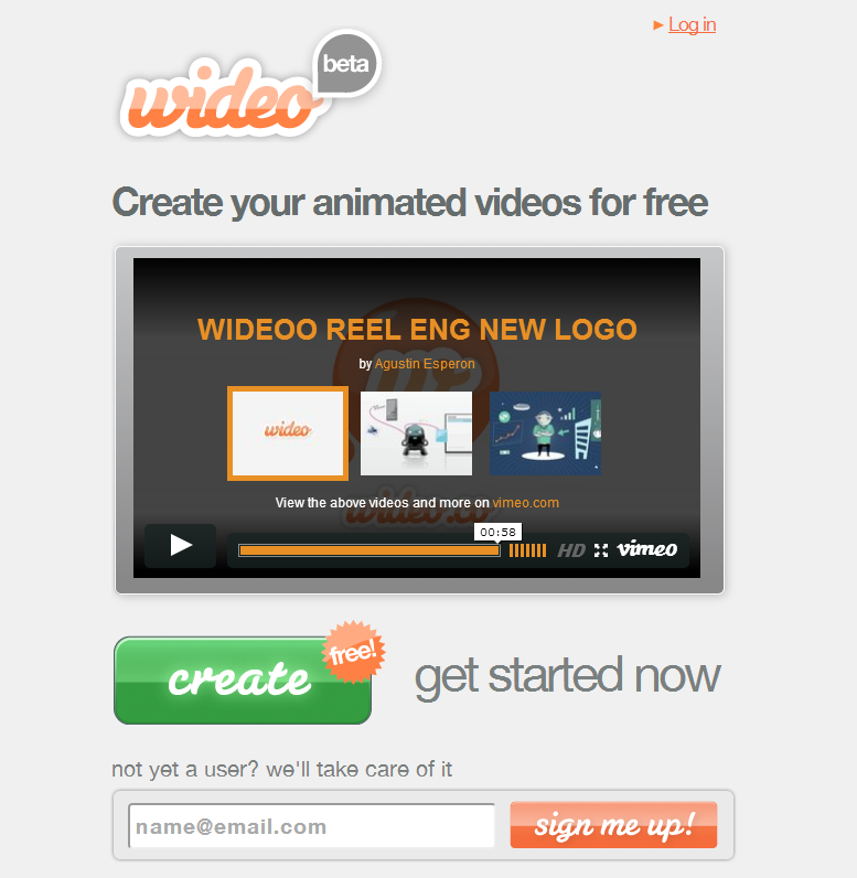 The Wideo web site
