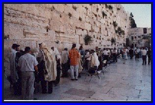 A photograph of the Western Wall