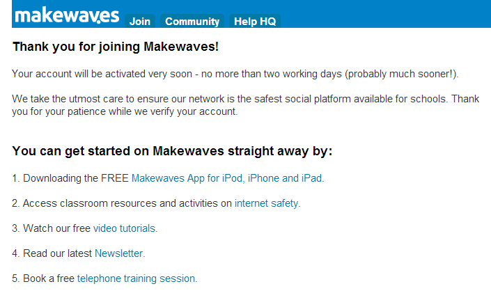 Makewaves Networks for Schools