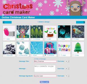 Printable Christmas Card Maker