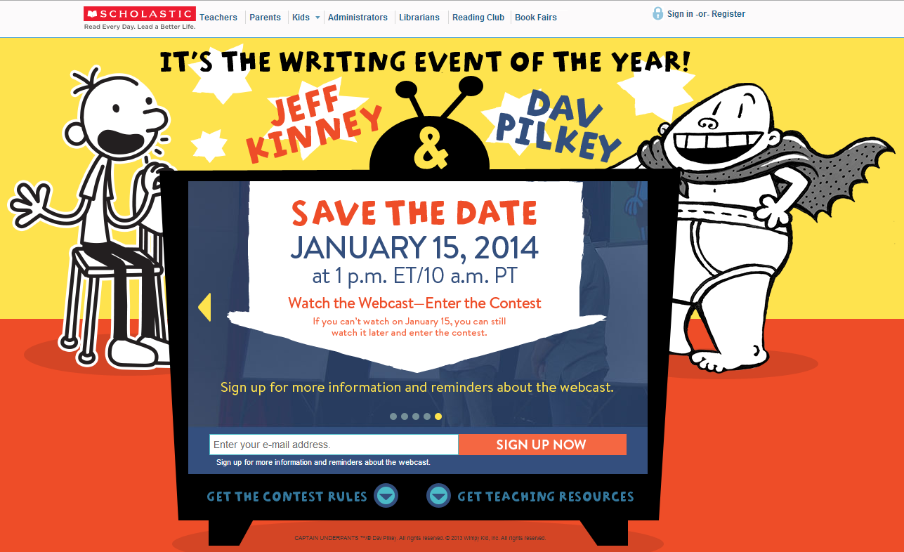 Scholastic - It's the Writing Event of the Year!