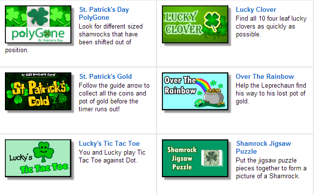 St Patrick's Day Games