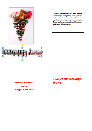 Make a Christmas Card in Word