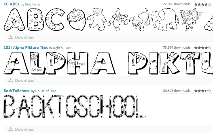 Fun Fonts to use for displays