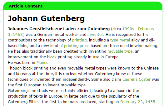 Encyclopedia list of inventors