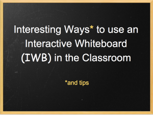 Using an IWB in the Classroom