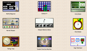a picture showing some maths games