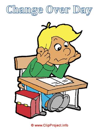 Boy at a desk