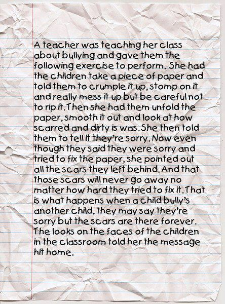 A bullying lesson