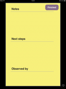 Step 3 - Click on post-it note and write notes for the observation