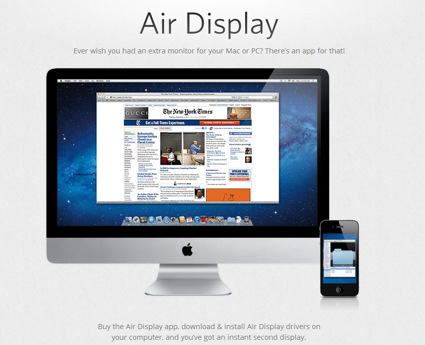 Air Display app -main