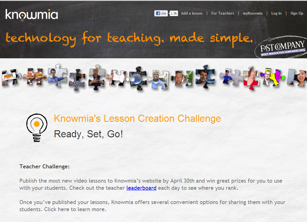 Knowmia Teacher Challenge