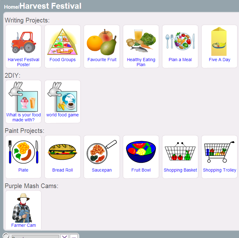 Purple Mash Harvest Festival resources