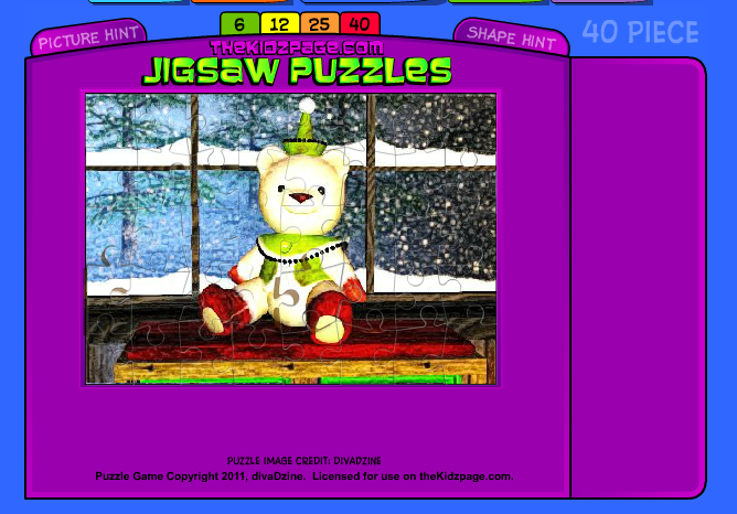 Christmas Pictures – jigsaw and drag and drop puzzles