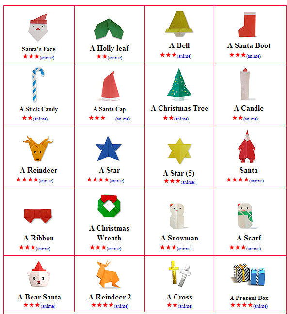 Christmas Origami.Origami Christmas 123ict 123ict