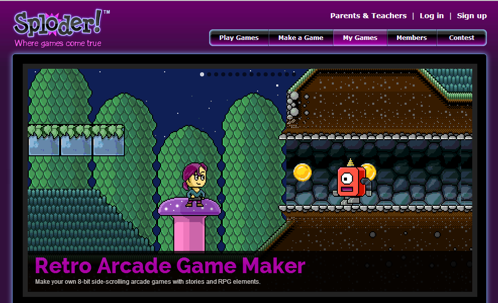 Sploder - pupils make games to share
