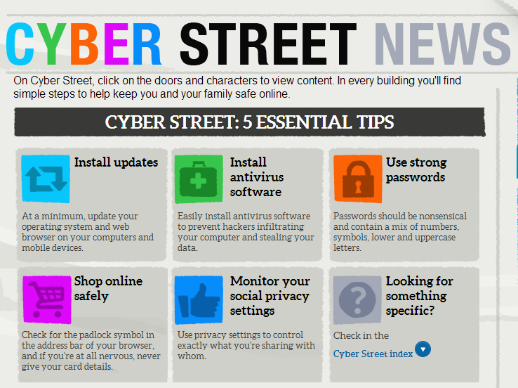 Cyber Street - e-safety for all ages