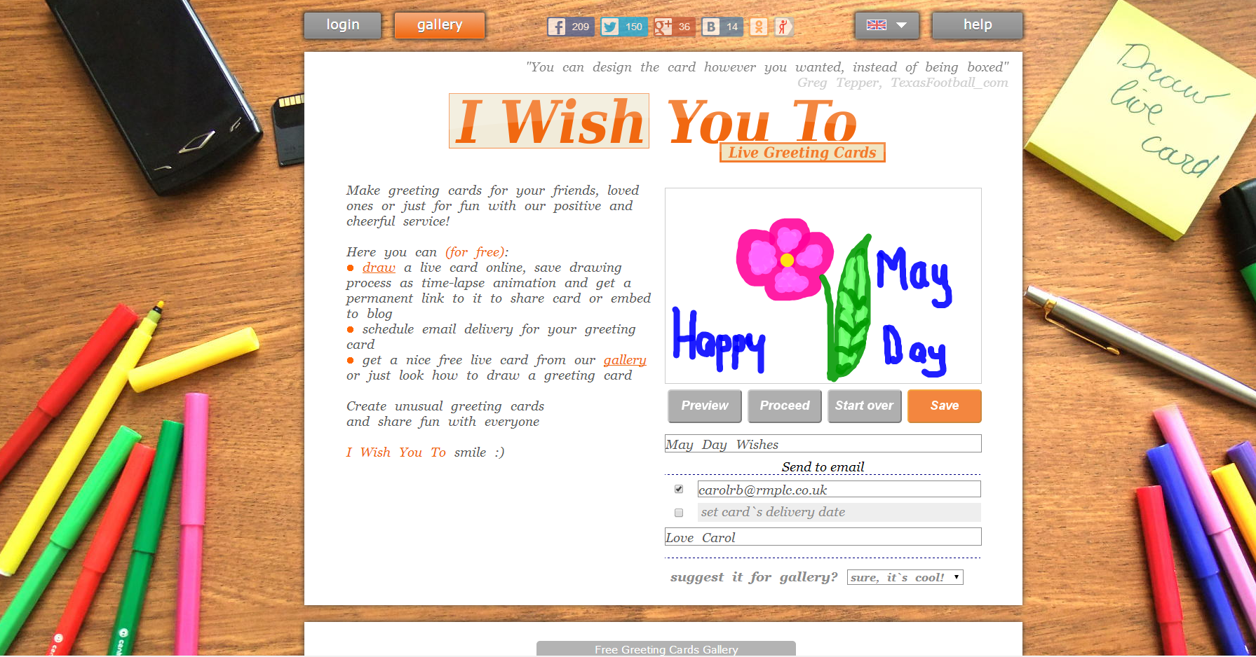 I Wish To You Live Card Maker 123ict 123ict
