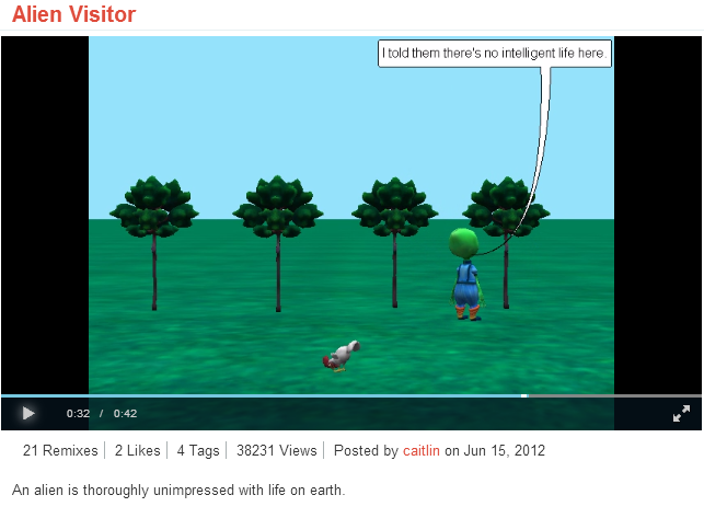 Looking Glass a 3D interactive story telling application