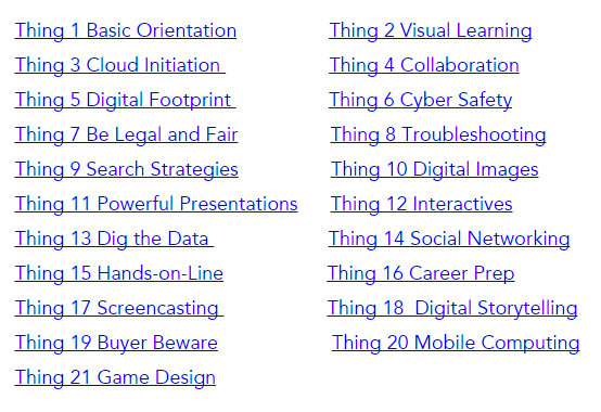 21 Things for Students