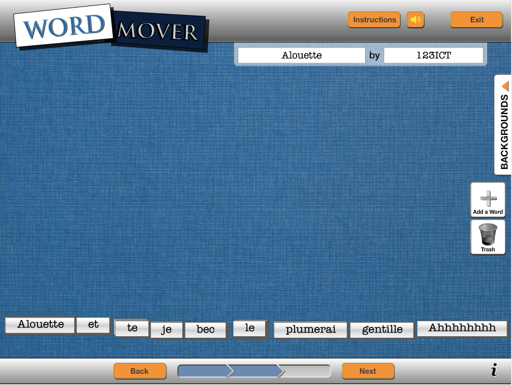 Word Mover Magnetic Poetry maker