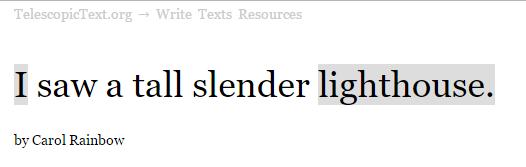 Telescopic Text